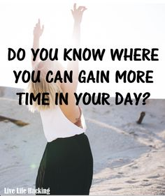 5 Tricks to get More Free Time! Looking to work on increased productivity and strategies? Looking for more time in the day? http://livelifehacking.com/1/post/2016/11/4-tricks-to-get-more-free-time.html  Time Management, Life Hacks, Techniques, tips