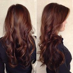 Dark Chocolate Brown Base with Caramel Balayage Highlights