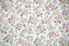1950's Vintage Wallpaper - Purple and Aqua floral