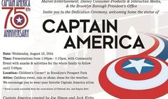 This is the info for anyone in the #NewYork area interested in going to the #CaptainAmerica statue dedication ceremony.  The statue will be dedicated to #JoeSimon and #JackKirby on Wednesday August 10th at 1pm in the Children's Corner of #Brooklyn's #ProspectPark. Let us know if you plan on going! We'll see yous there.