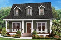 Cottage floor plans selected nearly ready-made house plans by leading architects and house plan designers. Cottage house plans can be customized for you. Style At Home, Country Style House Plans, Country Style Homes, Farmhouse Style, Farmhouse Design, Cape Style Homes, Country Houses, Southern Style, Cottage Style