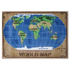 World Map Rug. >> Really fun for a kids room!