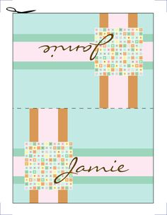 Wedding Name Place Cards Tented Orange Yellow Red by JennasCustoms, $3.00
