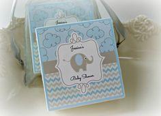 Baby  Boy Shower Favors, Elephant Shower Favors,  set of 10 soap favors