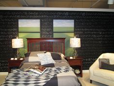 A cool room for any scholarly student! Nerdiness is in now! #sheelysfurniture #hpmkt