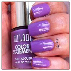 Two coats and no top coat of IMPERIAL PURPLE by Milani. #nails #nailpolish #swatches #Milani .     Instagram: accnpl