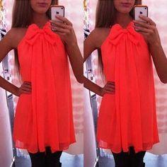 New Women Summer Sleeveless Party Evening Cocktail Short Mini Dress Beach Dress #Unbranded #Sundress #Cocktail