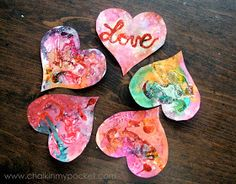 Chalk in My Pocket: Batik on Paper Revisited for Valentine's Day