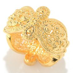 148-527 - Jaipur Jewelry Bazaar™ Floral Milgrain Scalloped Edge Eternity Band Ring
