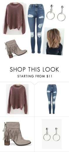 """""""Sweater Weather"""" by taylorrogalski on Polyvore featuring Topshop, Schutz and Monki"""