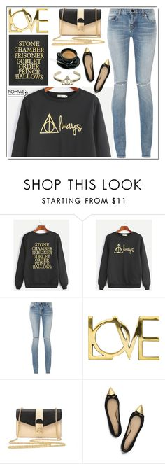 """""""romwe"""" by itsybitsy62 ❤ liked on Polyvore featuring Yves Saint Laurent and Tory Burch"""