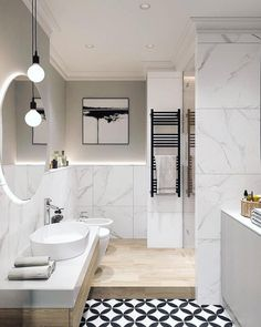 Elegant Scandinavian Style Home With Green Decor - Elegant Scandinavian Style H., Elegant Scandinavian Style Home With Green Decor - Elegant Scandinavian Style Home With Green Decor - Modern Bathroom Design, Bathroom Interior Design, Decor Interior Design, Interior Decorating, Modern Design, Decorating Ideas, Lobby Interior, Bathroom Designs, Modern Contemporary