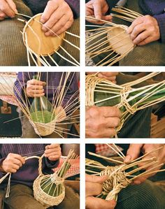icu ~ See how to make a basket of jute with your own hands. ~ See how to make a basket of jute with your own hands. Diy Arts And Crafts, Crafts For Teens, Home Crafts, Diy Crafts, Basket Weaving Patterns, Rustic Flower Girls, Willow Weaving, Bamboo Crafts, Newspaper Crafts