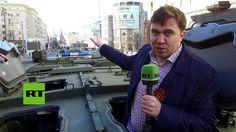 RT muestra 'a vista de tanque' el ensayo del gran desfile del 9 de mayo ... Victory Parade, Essayist, Tanks