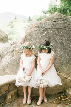 Spring flower girls: http://www.stylemepretty.com/2016/05/17/muted-earth-tones-inspired-wedding-design/ | Photography: Elate Photo - http://www.elatephoto.com/