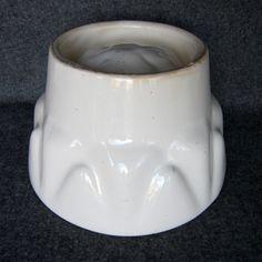ENGLISH PUDDING MOLD White Ironstone Antique by onefabulousflea, $18.00