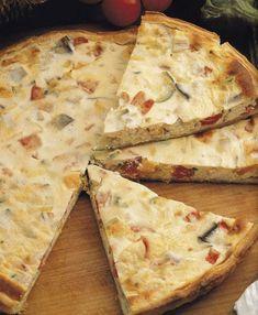 Zöldséges és sajtos pite