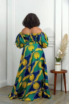 Long Ankara Dresses, Ankara Maxi Dress, African Maxi Dresses, Latest African Fashion Dresses, African Dresses For Women, African Attire, Africa Dress, Printed Maxi Skirts, Mi Long