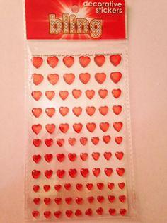 Bling  Red Heart Gems   dimensional gems  by CynthiasCraftingNook