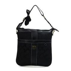 Coach Legacy Swingpack In Signature Medium Black Crossbody Bags AWO