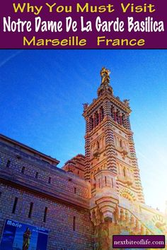 Notre Dame Marseille Basilica, Built on top of an old fort, the Neo-Byzantine church has awesome panoramic views from top. Packing For Europe, Europe Travel Tips, Travel Guides, Travel Destinations, European Destination, European Travel, Cheap Weekend Getaways, Notre Dame Basilica, Marseille France