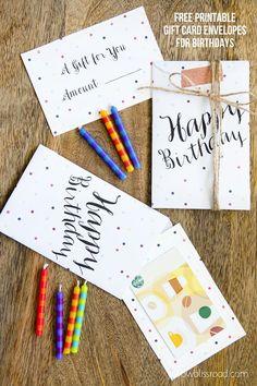 Free Printable Gift Card Envelopes for Birthdays from @Kristin Plucker Bergthold   Yellow Bliss Road
