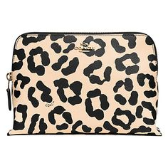 Buy Coach Leather Medium Cosmetic Purse, Ocelot Apricot Online at johnlewis.com