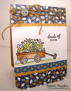 oads of Thanks Card by Stephanie Muzzulin for Newton's Nook Designs - Wagon of Wishes Stamp set