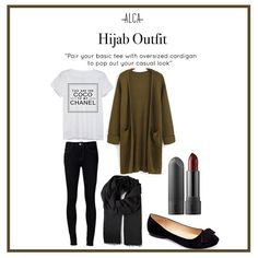 Pull of your casual look by pairing a basic tee with oversized cardigan, Beauties! Double tap if you like this style. Casual Hijab Outfit, Ootd Hijab, Hijab Chic, Hijab Fashion Inspiration, Oversized Cardigan, Stylish Girl, Fashion Outfits, Womens Fashion, Casual Chic