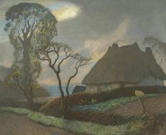 George Clausen (British, 1852-1944), Old Essex in November, 1928-33. Oil on canvas, 24 x 29½ in.