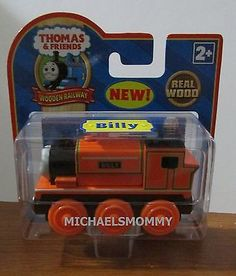 Learning Curve 99046 Thomas and Friends Wooden Railway - Billy for sale online Wooden Toy Train, Wooden Toys, Thomas And Friends Trains, Collector Cards, Thomas The Tank, Engine, Label, Amp, Learning