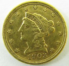 "Lot 3 in the 4.15.14 online & live auction! 1903 $2.50 Liberty Head Gold Dollars, grade range is ""Extremely Fine"" to ""About Uncirculated"" condition. #Money #Currency #Coin #Bullion #POGAuctions"