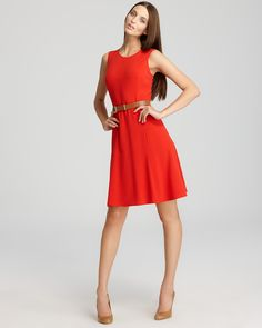 Calvin Klein Women's beautiful Fit And Flare Dresses Details: http://cuteomatic.com/gift-idea-cute-dresses-for-her