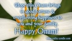 Onam Greetings, Wishes and Onam Quotes – Cathy Onam Quotes, Onam Greetings, Onam Wishes, Happy Onam, Good Fortune, Greeting Cards, Invitations, Kerala, Festivals