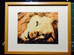A multi layered paper portrait, hand cut by myself. African Lion.  All my pinned work is for sale on www.customcutsbyjanna.com