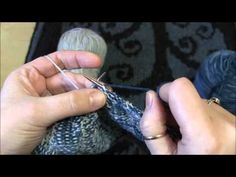 Weaving Two Handed Fair Isle in Purl and Knit - YouTube