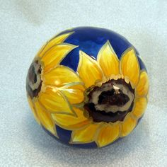 Gorgeous #ceramic sunflower #paperweight - $13 and over.