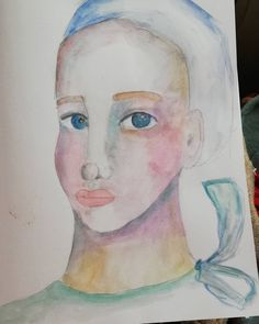 Playing with watercolors in A4 Derwent art journal - a quick way to love what you create is to create with your soul! Keep practicing and you'll get better every day 😎 sometimes it's about the journey, not the end result.  #whimsical #whimsicalart #art #instaArt #whimsicalface #drawingwhimsicalfaces #painting #CristinaParusArt #mixedmedia #artjournal #artjournaling #colorful #face #paintingwhimsicalfaces #imaginary #watercolor #watercolorart #girl #journal Whimsical Art, Insta Art, Watercolors, Watercolor Art, A4, Journey, Colorful, Create, Drawings