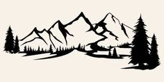 mountain outline graphic - Google Search Mountain Outline, Mountain Silhouette, Mountain Tattoo, Tree Silhouette, Free Vector Graphics, Free Vector Art, Free Vector Images, Mountain Illustration, Illustration Vector
