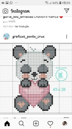 Free Cross Stitch Charts, Cross Stitch For Kids, Cross Stitch Patterns, Crochet Wall Hangings, Perler Bead Art, Knitting Charts, C2c, Cross Stitching, Pixel Art
