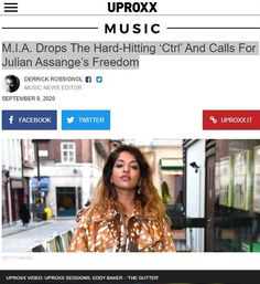 2020 Sep 9: M.I.A. Drops The Hard-Hitting 'Ctrl' And Calls For Julian Assange's Freedom