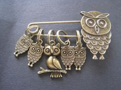 Owl Family stitch markers