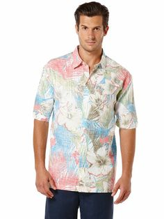 SHORT SLEEVE ALLOVER PRINT SHIRT www.Cubavera.com Guayabera friends and Family The weekend Save Linen Resort Menswear Fashion Mens Style Travel Culture Comfort Relax Enjoy Mojito Cigarlife Happy