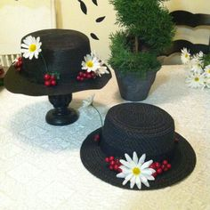 Perfect for Disneybounding! Mary Poppins Nanny Hat by NerdPoppins on Etsy, $14.00
