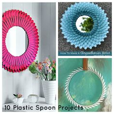 Never throw your used plastic spoon and forks, clean and save it, when the time it is already lots in numbers you can now create something...
