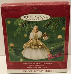 2000 Hallmark Keepsake Christmas Ornament - Celebration Barbie This item is NOT in Mint Condition and is in no way being described as Mint or even Near Mint. Our toys have not always lead the perfect