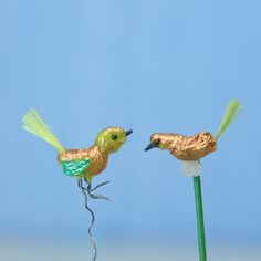 Make Miniature Christmas Decorations: Tiny Versions of Traditional Blown Glass Bird Ornaments For Christmas Trees