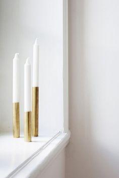 blanc, décoration, intérieurs, intérieurs blancs et or, or