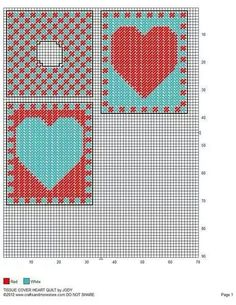 TISSUE BOX COVER HEART QUILT by JODY 2/2