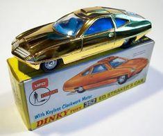 Dinky - Ed Straker's car - original wheels - they match the box illustration